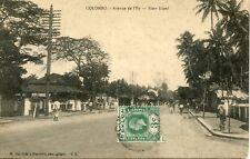 CARTE POSTALE  // ASIE / CEYLAN / COLOMBO / AVENUE DE L'ILE SLAVE ISLAND