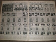 WWII USA Army Navy Rank Insignia compared to British 1942 prints AQ