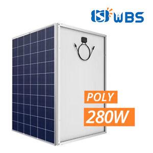WHOLESALE & BULK [10 PCS] 280W Poly Crystalline Solar Panels Module 30V 60 Cell