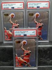 3X Michael Jordan PSA 9 Graded Basketball Card Lot Skybox Premium #16 Bulls HOF