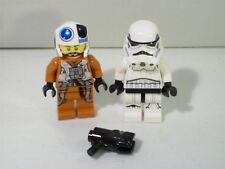 LOT OF 2 LEGO STAR WARS MINI FIGS FIGURES STORMTROOPER X-WING PILOT