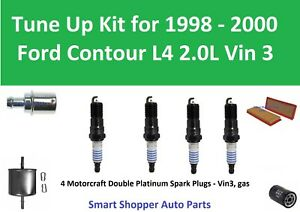Fuel Filter, Oil Air Filter, PCV, Spark Plugs Tune Up for 1997 Ford Contour L4