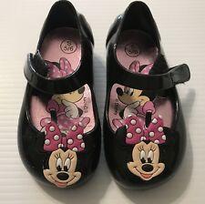 b4ced56a0bb5 DISNEY STORE Minnie Mouse Girls 5-6 Black Sparkle SHOES Bows Adorable