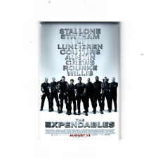 """THE EXPENDABLES 2"""" X 3"""" MOVIE POSTER MAGNET (stallone schwarzenegger action 2010"""