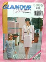 Uncut Butterick Sz 12-16 Easy Front Button Jacket & Tapered Skirt Pattern 5066