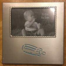 Baby Boy Picture Frame 3x2 Inches Blue Baby Bottle
