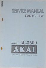 AKAI AC-3500 Sistema Audio Servizio di Riparazione Officina Manuale (copia originale)