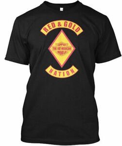 Red Gold Nation Bandidos Support Fat M - & The Gildan Tee T-Shirt
