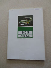 1970s Mercedes 280 S 280 SE cars advertising booklet - Australia