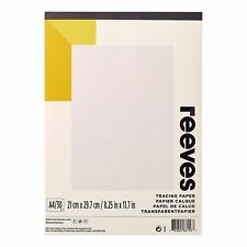 Reeves A4 Tracing Paper Pad 30 feuilles 62GSM Art Pen Crayon copie dessin