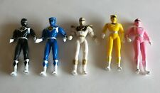 Vintage 1995 Mighty Morphin Power Rangers 4 Inch Action Figures Lot Of (5) Clean