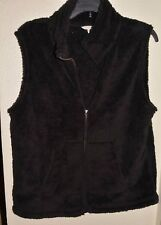 BNWT SONOMA WOMEN'S fuzzy fleece MOCK NECK  vest #Size PL @ $24.99 & $6.99 SH