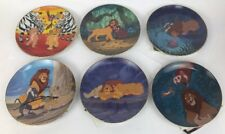New BRADFORD EXCHANGE THE LION KING COLLECTORS PLATE SET of 6 Disney COA