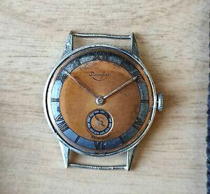 Douglas Art-deco Watch - swiss made - Roamer caliber - 1930 - Fix lugs