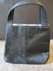 NEW! Cosgrove & Beasley Black Leather Handbag