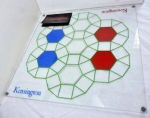 Kensington Board Game Luxury Glass Board - Vintage Very Rare 1979 - 46cm
