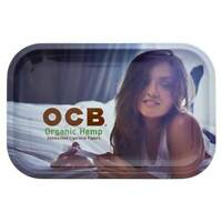 OCB Organic Girl Blue - 1 TRAY - Rolling Papers Tray Medium 11 x 7 Size Metal