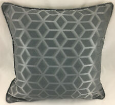 Dark Grey with Geometric Design & Piped Edge Evans Lichfield Cushion Cover