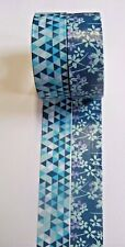 (w5) WASHI~PAPER~MASKING TAPE~SELF ADHESIVE~CRAFT~CARDS~ART~15mm x 5m~2 ROLLS~