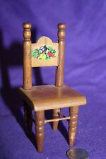 Vintage miniature wood dollhouse chair