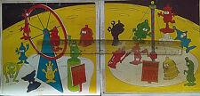 R&L Australian CEREAL TOY Panel Art Colour Repro FRINGIES Fun Fair KELLOGGS 1970