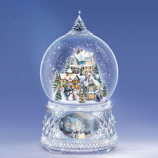 Home For The Holidays Thomas Kinkade Snow Globe / Water Globe Bradford Exchange
