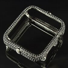 Sterling Silver Apple Bezel Iced Out Black Lab Diamond New 38mm Series 2