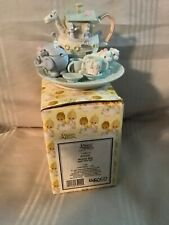 New ListingPrecious Moments Noah's Ark Mini Tea Set w/3 Other Figurines Lot