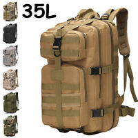 35L Outdoor Military Tactical Backpack Hiking Camping Trekking Rucksacks Bag