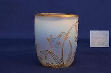 DAUM Nancy : Petit Vase en Verre Gravé à l'Acide Epoque Art Nouveau vers 1900