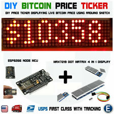 DIY Arduino Bitcoin Crypto Coin Price Ticker Red LED Dot Matrix Display Wi-Fi