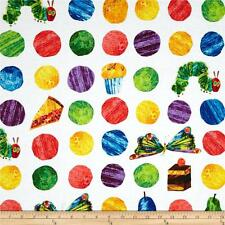 The Very Hungry Caterpillar Large Dots 100% Cotton Fabric  FQ 50cm x 55cm
