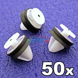 50x Renault Interior Trim Panel & Pillar Clips with rubber seal- 7703077469