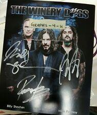 Winery Dogs Signed Mike Portnoy Richie Kotzen Billy Sheehan Autograph COA b
