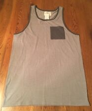 93b2def54482b On The Byas Gray Pocket Tank Top Shirt Men s Size M Medium NWT!