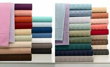 Cozy Bedding Collection 1000TC Organic Cotton US Full Size Solid/Striped Colors