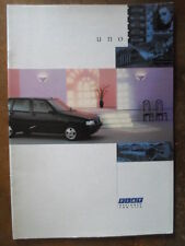 FIAT UNO RANGE orig 1990 1991 UK Mkt Sales Brochure - Turbo I.E.