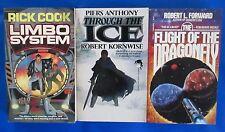 LOT of 3 Science Fiction Paperbacks #34 Anthony Forward Cook Baen VGN