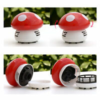 AU_ Portable Mini Vacuum Cleaner Lovely Mushroom Boys Girls Toy Office Home Swee