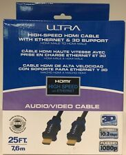 ULTRA High Speed HDMI Cable with Ethernet and 3D Support Male to Male 25ft