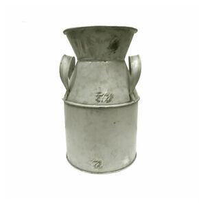 Decorative Metal Milk Churn Vintage Rustic Shabby Chic 20cm/8 inches Tall