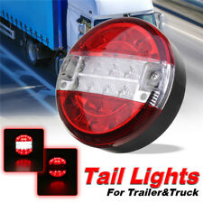 20LED Truck Trailer Waterproof Tail Light Red-White Brake Reverse Lamp Round
