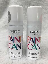 New NAILS INC. Paint Can Spray On Nail Polish Pink Silver