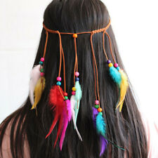 Bohemian Hair Band Feather Colorful Headband Peacock Head For Girls Accessories