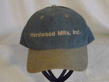Original Vintage Hardwood Mills, Inc. Millington MD Denim And Tan Cap adjustable