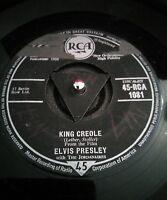 """Elvis Presley King Creole Vinyl 7"""" Tri Centre RCA 1081 1958"""