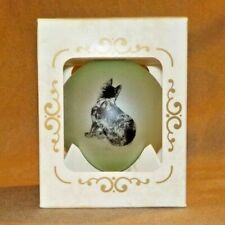 Schipperke Collectible Christmas Ornament/Ball, 2000 - Yearly Issue, Mint Green