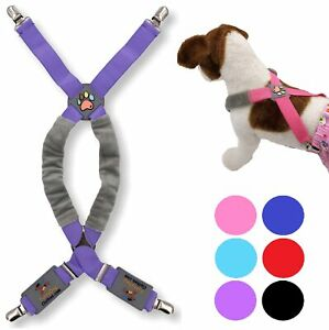 Choke Free Dog Suspenders for Pet Apparel Clothes Diapers Belly Band Small Large