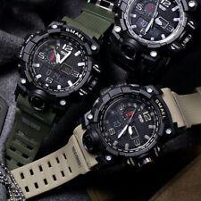 SMAEL Men's Military Sport Wrist Watch Quartz Dual Movement with Analog Digital