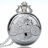Large fine chain silver pocket watch Stylish and exquisite personality motor GN8